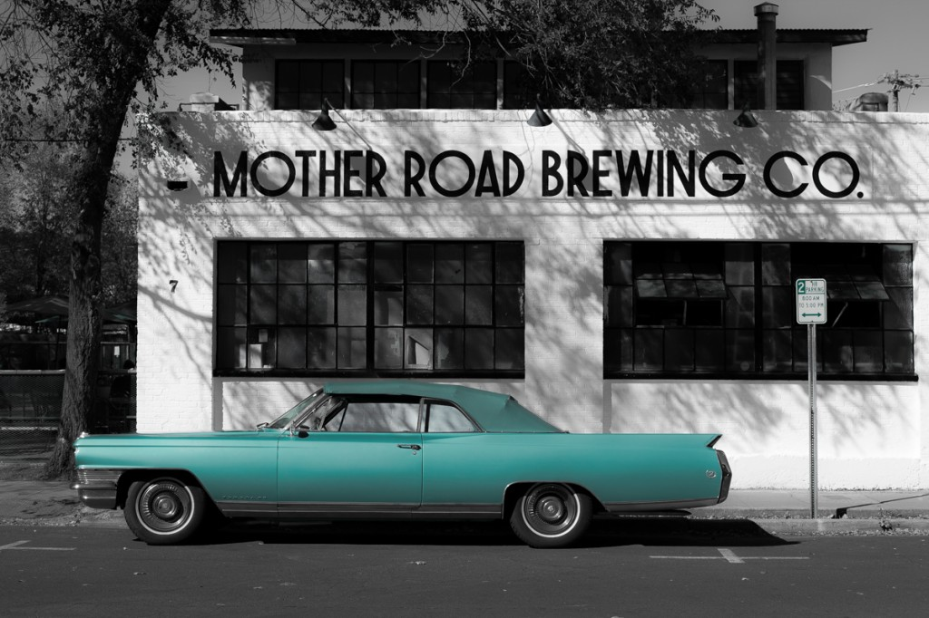 Cadillac, Mother, Road, Brewing, Company, America, USA, Flagstaff, Arizona, Chevy, Classic, Car, Green, Selective, Fine Art,