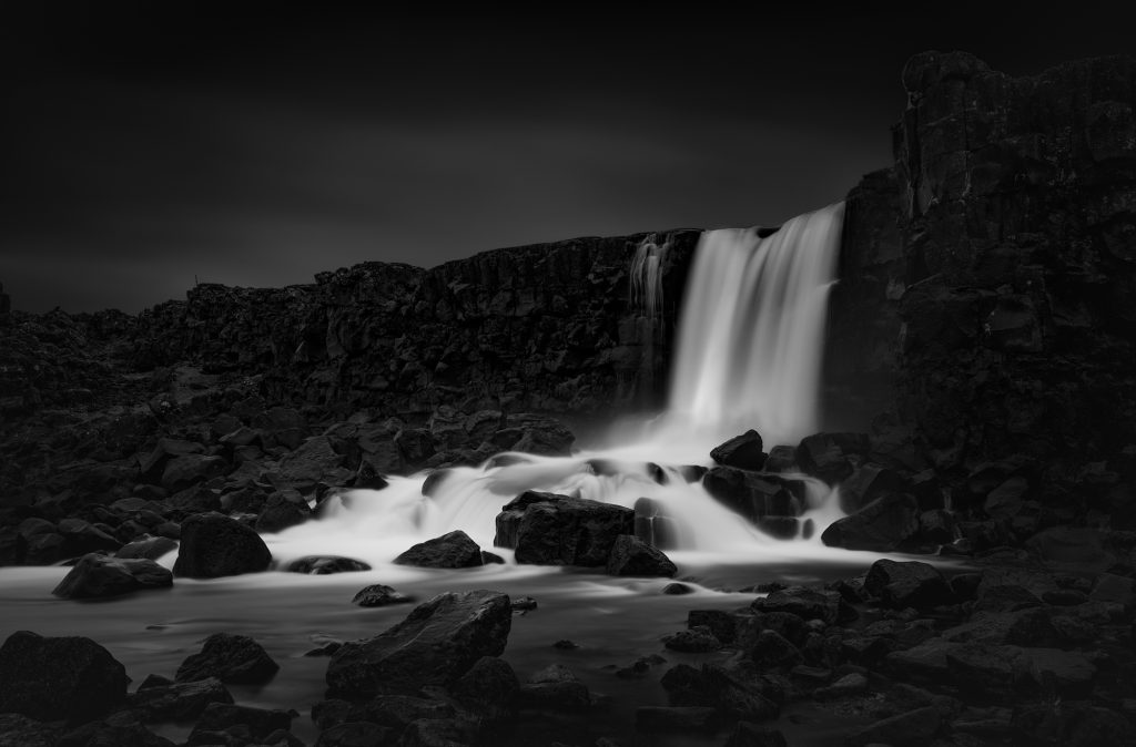 Iceland, Photography, Black and White, Fine Art, Travel, Landscape, Waterfall, Seascape, Mountain, Weather, Ice, Long Exposure, Monochrome, Artist, Print, For Sale,