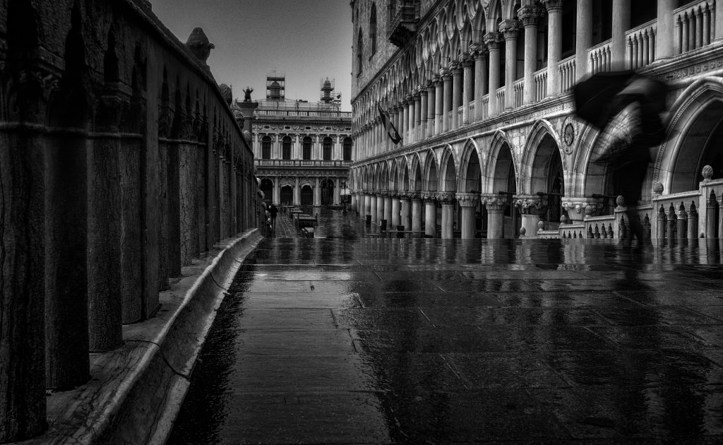 Venice, Fine Art, Photography, Black and White, Water, Long Exposure, Italy, Street, Landscape, Cityscape, Canal,
