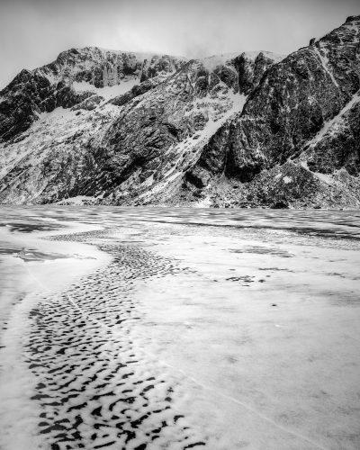 Norway, Lofoten, Lake, Ice, Frozen, Nikon, Abstract, Colour, Black, White, Fine Art, Bubbles, Water, Rock, Stone, Snow, Winter, Cold, Mono, Monochrome, Trip, Travel, Blog,