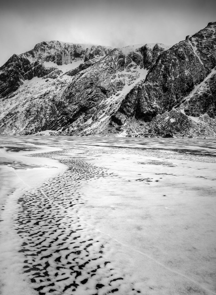 Norway, Lofoten, Lake, Ice, Frozen, Nikon, Abstract, Colour, Black, White, Fine Art, Bubbles, Water, Rock, Stone, Snow, Winter, Cold, Mono, Monochrome, Trip, Travel, Blog,