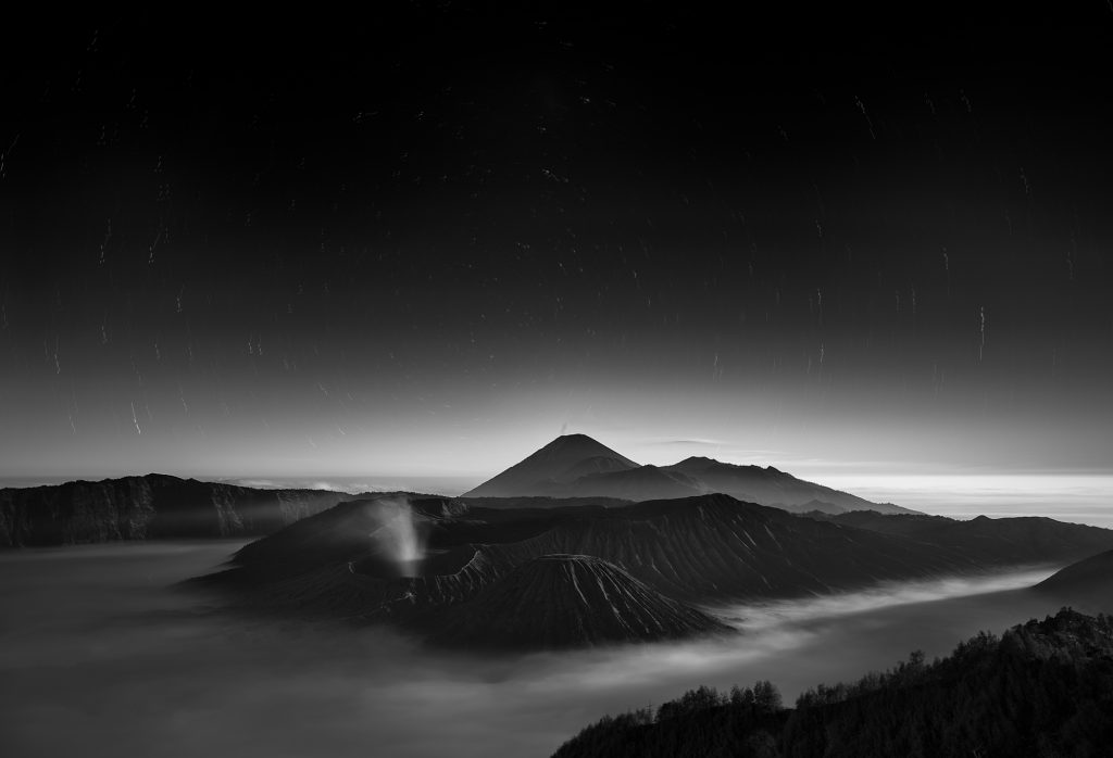 Nikon, Night, Photography, Long Exposure, Volcano, Java, Bromo, Indonesia, Mountain, Stars, Fine Art, Photographer, Print, Asia,